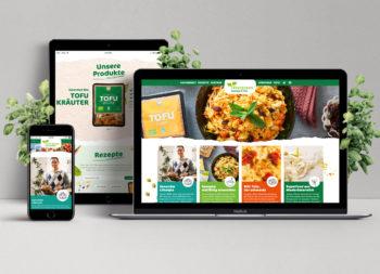 Evergreen - Sprossen & Tofu, Website